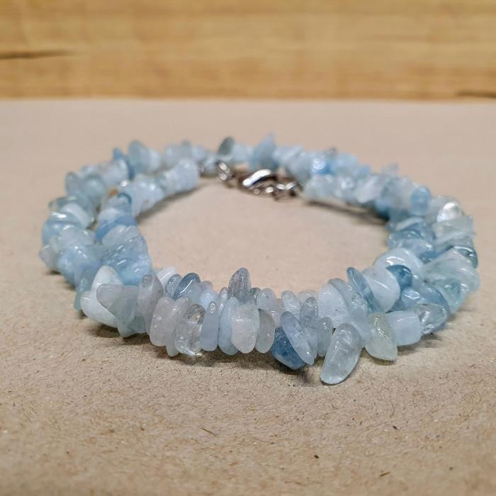 Akvamarín sekaný náhrdelník