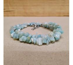 Amazonit světlý sekaný náhrdelník