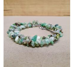 Chryzopras sekaný náhrdelník
