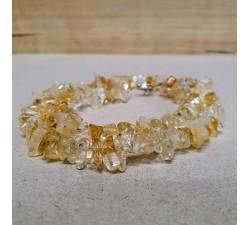 Citrín sekaný náhrdelník