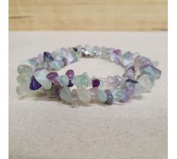Fluorit sekaný náhrdelník