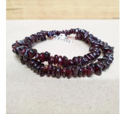 Granát sekaný náhrdelník