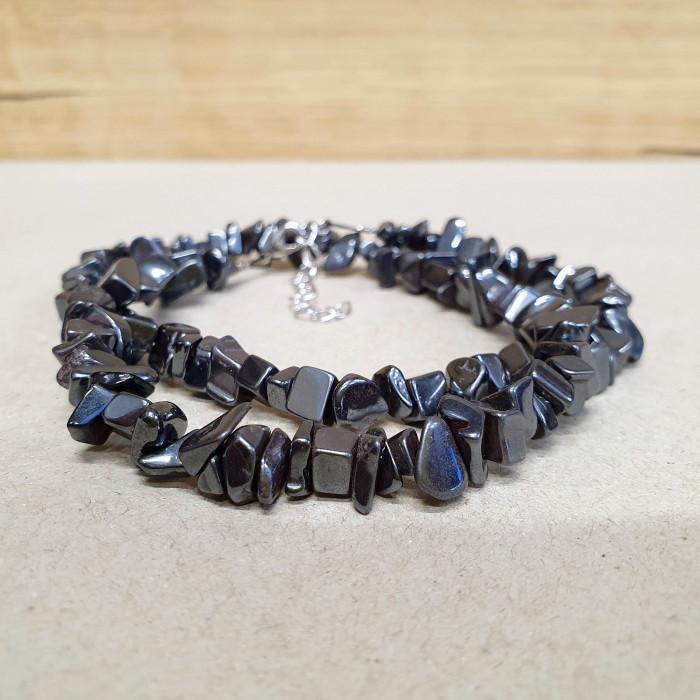 Hematit sekaný náhrdelník