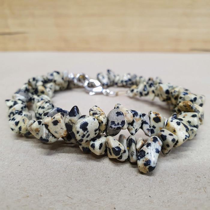 Jaspis dalmatin sekaný náhrdelník