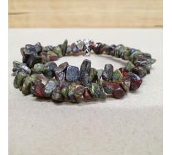 Jaspis epidot sekaný náhrdelník
