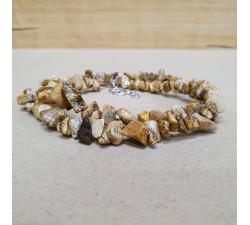 Jaspis pískový sekaný náhrdelník