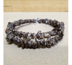 Jaspis vločka sekaný náhrdelník