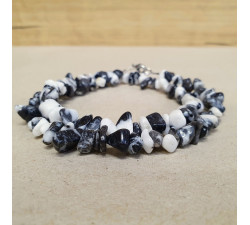 Jaspis zebra sekaný náhrdelník