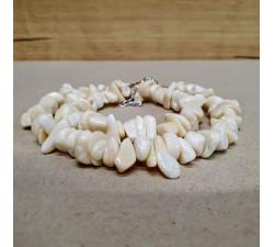 Korál bílý sekaný náhrdelník