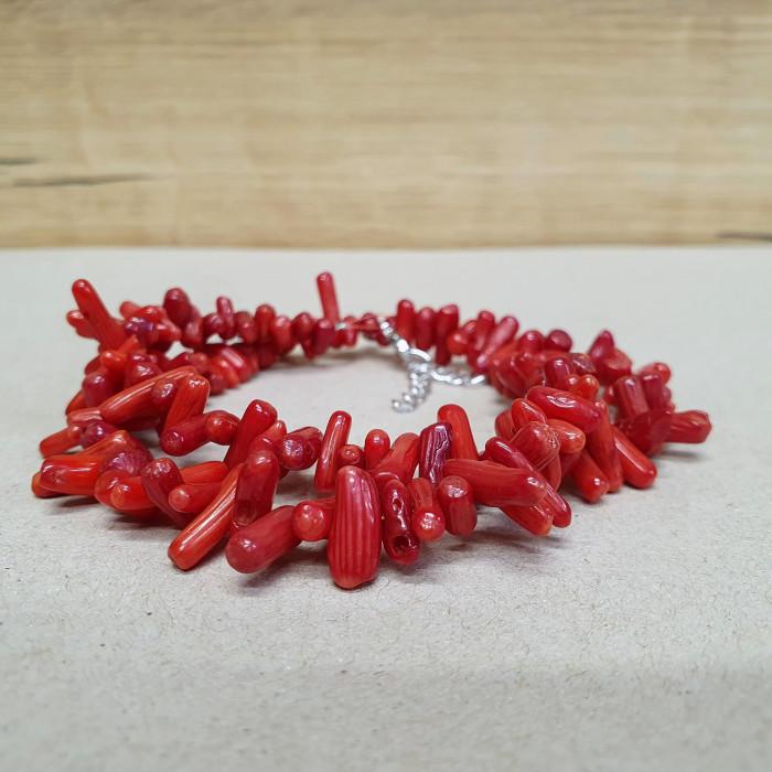 Korál větvičkový červený sekaný náhrdelník