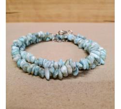 Larimar sekaný náhrdelník