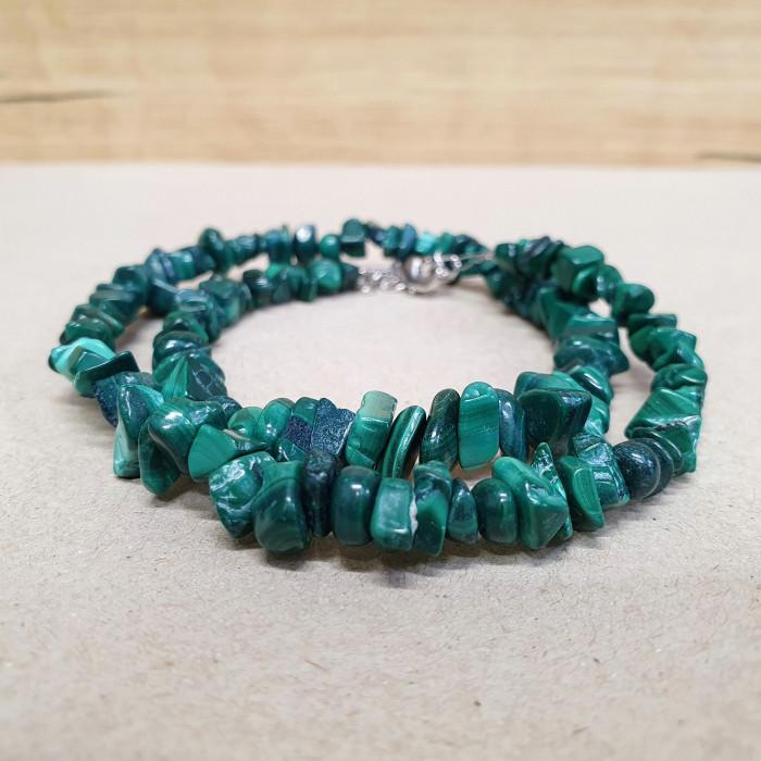 Malachit sekaný náhrdelník