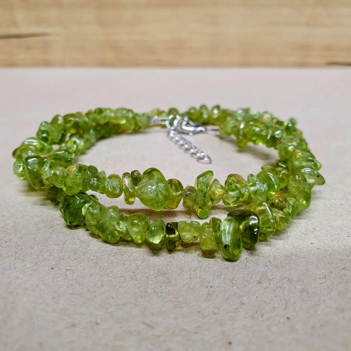 Olivín sekaný náhrdelník