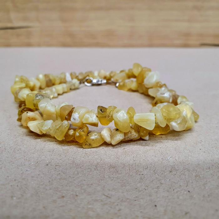 Opál žlutý sekaný náhrdelník