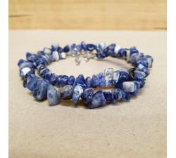 Sodalit sekaný náhrdelník