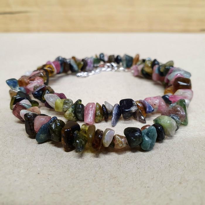 Turmalín meloun sekaný náhrdelník