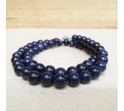 Avanturín modrý 8mm kuličkový náhrdelník