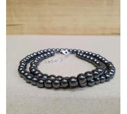 Hematit 6mm kuličkový náhrdelník
