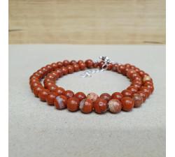 Jaspis červený 6mm kuličkový náhrdelník