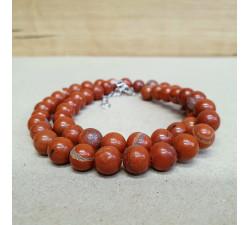 Jaspis červený 8mm kuličkový náhrdelník
