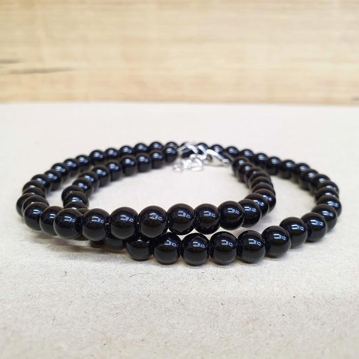 Onyx 6mm kuličkový náhrdelník