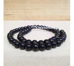Onyx 8mm kuličkový náhrdelník