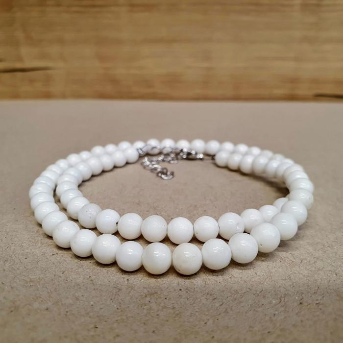 Perleť (mušlovina) 5mm kuličkový náhrdelník