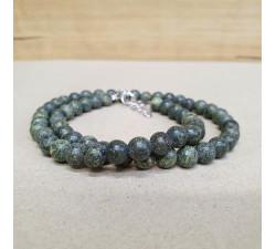 Serpentin 6mm kuličkový náhrdelník