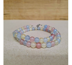 Křišťál barvený 6mm kuličkový náhrdelník