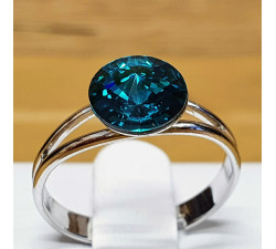 Prsten SW - Blue zircon 8mm
