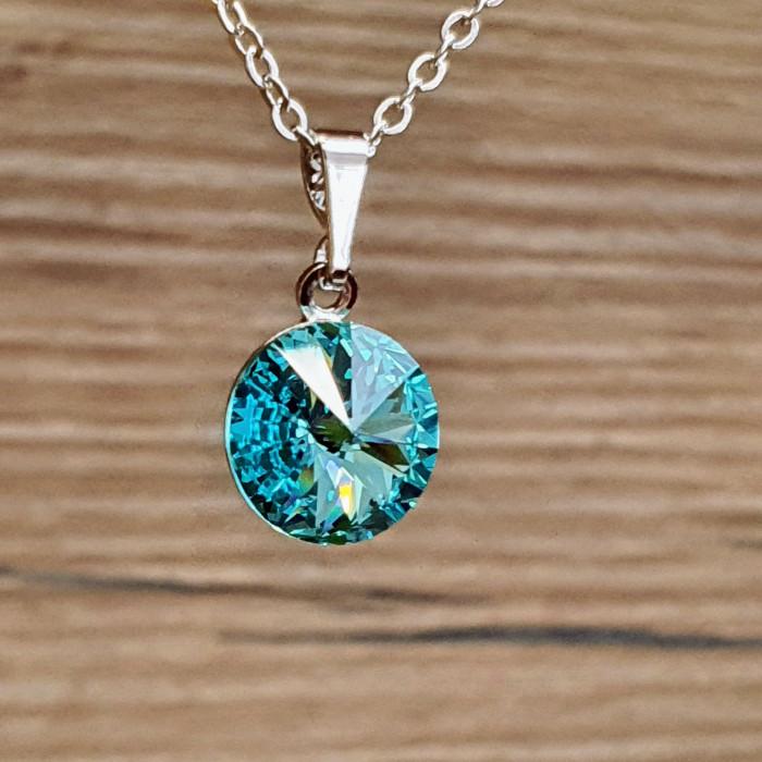 Přívěsek s řetízkem SW - Light turquoise