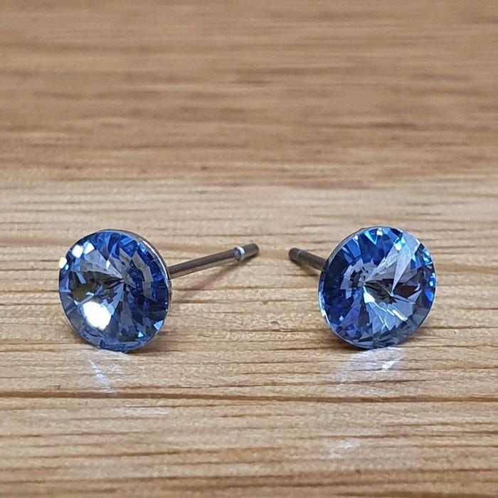 Náušnice puzeta SW - Light sapphire