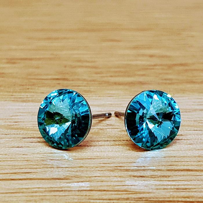 Náušnice puzeta SW - Light turquoise