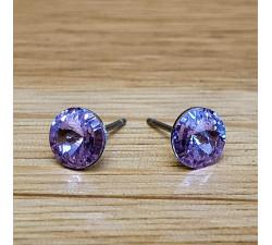 Náušnice puzeta SW - Violet 6mm