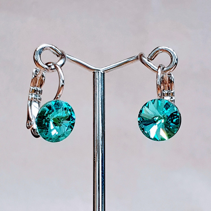 Náušnice klapka SW - Light turquoise